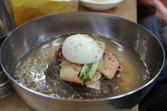 Nang Myun - Cold Noodle Soup  one of our favorite especially during summer