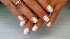White mani with rhinestones :: one1lady.com :: #nail #nails #nailart #manicure