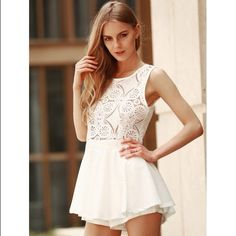 Only $39 on my site Cut out lace romper Visit www.kkboutique.myshopify.com. Gorgeous romper❗️ material is lace and polyester and so stunning. Available in small,medium and xlarge. Tops