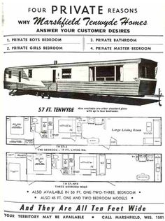 Two Story Mobile Homes – Vintage Advertisments | Vintage