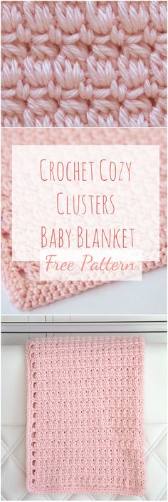 Crochet Stitches For Beginners Crochet Cozy Clusters And A Free Pattern with a step by step video guide - A step-by-step tutorial, Video, Photo collage and a free pattern. This article has it all for those who want to learn how to crochet cozy clusters! Crochet Stitches For Beginners, Beginner Crochet Projects, Crochet Stitches Patterns, Crochet Videos, Crochet Tutorials, Free Baby Blanket Patterns, Baby Blanket Crochet, Crochet Blankets, Baby Blankets
