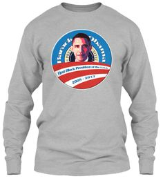 President Barack Obama Farewell Shirts Sport Grey Long Sleeve T-Shirt Front