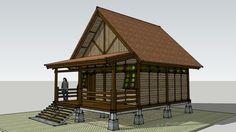 Rumah Kayu 6x8 M2 - 3D Warehouse