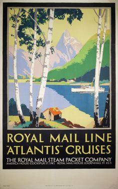 Royal Mail - Atlantis Cruises - Norway by Padden, Percy (1885-1965)