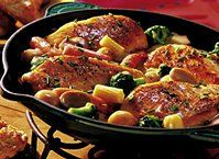 Family dinner doesn't get any better than this convenient yummy-in-the-tummy chicken dish.  Mmm!