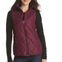 HP Make Offer - Plum Zip Vest w/ Pockets - NWT Coming Soon - Plum Zip Up Vest w/ Pockets - New With Tags. Mock neck, plum color, two hand pockets. Made of polyester. MSRP is $99. Bass Jackets & Coats Vests
