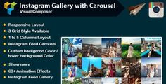 gallery, image gallery, instagram, instagram carousel, instagram feed, instagram gallery, instagram plugin, instagram widget, social feed, social media, social media feed, social slider, wordpress plugin   Main Features              Responsive Layout.             3 Grid Style Available             1,2,3,4,5 Columns Layout             Custom backgrond Color and hover background color             Show more             Instagram Feed Carousel             Instagram Feed Gallery User Feed and…
