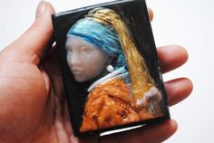 Handmade inspired 'Girl with a Pearl Earring' parody by NerdySoap