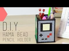 Tutoriel - DIY Saint Valentin : Pot à crayons hama bead Geek - Pencil Holder (english subs) - YouTube