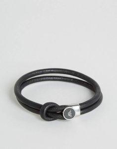 Emporio Armani Logo Bracelet In Black