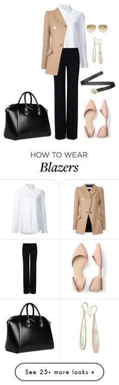 """Casual classic"" by nekopazzta on Polyvore featuring Misha Nonoo, STELLA McCARTNEY, Tamuna Ingorokva, Gucci, Givenchy, Ippolita, Oliver Peoples, classic, casual and blazers"