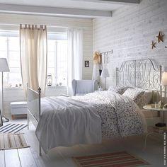 Beim Einschlafen Wind und Meer lauschen. #Landhaus #Dünen #Urlaub #Bett #LEIRVIK #Bettwäsche #LJUSÖGA #meinIKEA