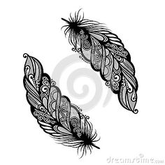 Illustration about Peerless Decorative Feather (Vector), Patterned design, Tattoo. Feather Tattoo Design, Feather Art, Feather Tattoos, Bird Feathers, Tribal Tattoos, Forarm Tattoos, Star Tattoos, Love Tattoos, Hand Tattoo