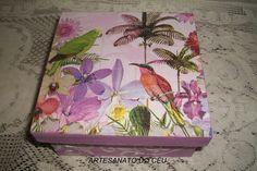 Caixa Pássaros Stencil - R$ 15,00 Cod. PCX 147- VENDIDO