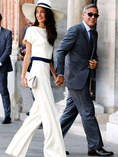 Mono de novia de Amal Clooney