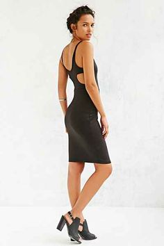 Silence + Noise Carved Racerback Bodycon Midi Dress - Urban Outfitters