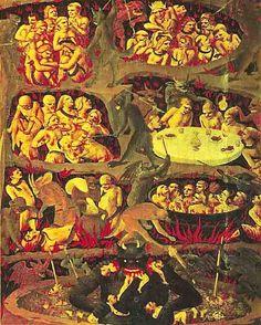 El infierno del catolicismo es un lugar y estado de eterna desdicha en que se hallan las almas de los réprobos y pecadores sin arrepentimiento.