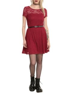 0ae388148a Red Lace Dress at Hot Topic  17ccox Hot Topic Dresses