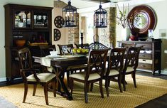 Legacy Classic Thatcher Rectangular Trestle Table Dining Set