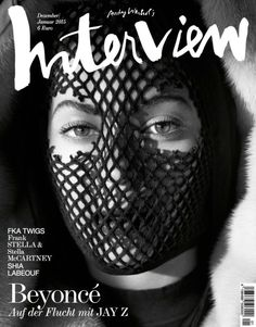 Beyoncé wears another fishnet mask for Interview Germany's latest.