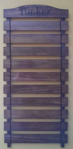 Martial Arts Belt Display Wall Rack by TimberJacksWoodshop on Etsy, $60.00
