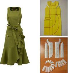 753 curtidas, 11 comentários - Альбина Скрипка ( n. Sewing Dress, Dress Sewing Patterns, Diy Dress, Sewing Clothes, Clothing Patterns, Sewing Diy, K Fashion, Fashion Sewing, Costura Fashion