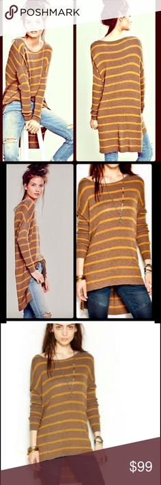 FREE PEOPLE Sweater Tunic These are the BEST! Super sexy with boots as a dress too! Free People Sweaters Crew & Scoop Necks