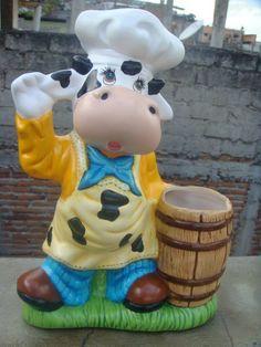 Torito porta cucharas Resin Planters, Ceramic Bisque, Cold Porcelain, Gadgets, Barbie, Pottery, Dolls, Crafts, Painting