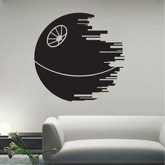 Death Star Wall Decal  _ Star Wars Wall Decor _ Trendywalldesigns