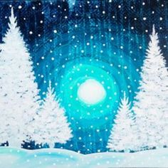 Stay warm and cozy while you paint this winter wonderland  #brrrr #wineandpaint #pinotspalette