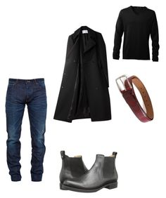 """""""Night outfit"""" by lamia-alsalem on Polyvore featuring Snake & Dagger, Frye, Alexander Wang and Uniqlo"""