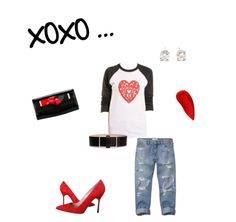 Loving this casual chic look for Valentines day!