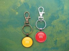 Candy Monogram Initial Keychain Inspired by M&Ms and Skittles  This keychain…
