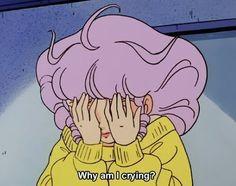im not crying u r. . . . . #anime #aesthetic #animeaesthetic #japan #japaneseaesthetic #pastel #pink #purple #animegirl #crying #animeworld #animefan #color #vintage