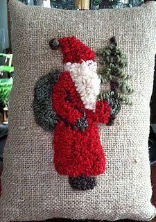 Santa Burlap Pillow