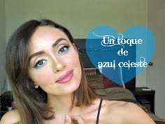 Makeup tutorial for brown eyes. Pop of ice blue.