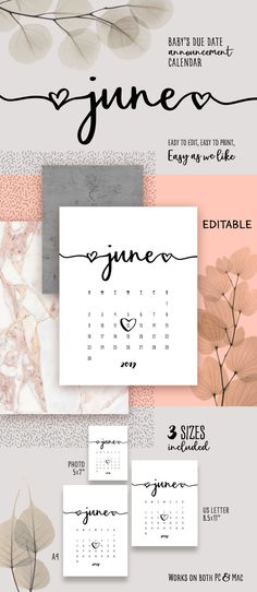 Pregnancy Announcement Calendar