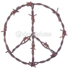 depositphotos_5139809-Rusty-barbed-wire-peace-sign.jpg (446×449)