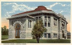 Old Carnegie Library, Parsons, KS  I have always thought this is such a beautiful building.