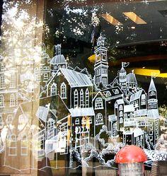 Window Painting for Jino Italian Family Restaurant by Suhwa Hwang, via Behance