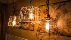 DIY Basket Lamps