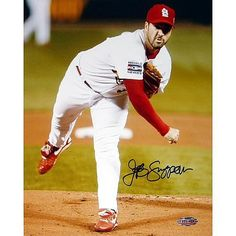 Steiner Sports MLB Jeff Suppan Autographed Game 4 WS Pitching Photo - St. Louis Cardinals