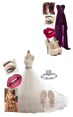 """""""Lexi's wedding day"""" by karizmaslays ❤ liked on Polyvore featuring Charlotte Tilbury, Retrò and Blue Nile"""