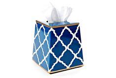 Tissue Box Cover, Navy Madeline on OneKingsLane.com