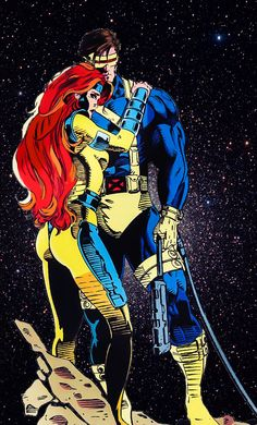 the-phoenix-saga:  Jean Grey and Scott Summers: power couple of the Marvel…