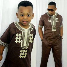 dashiki parent kid set 2018 african kids clothing african men dashiki clothing bazin riche shirt pant two 2 piece suits children Baby African Clothes, African Dresses For Kids, African Attire For Men, African Clothing For Men, African Shirts, African Children, African Men Fashion, African Wear, Kids Clothing