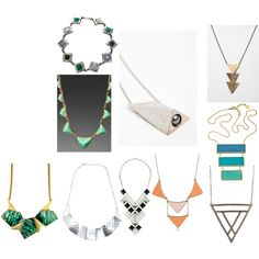 """Dramatic necklaces"" by jenr8 on Polyvore"