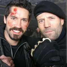 Jason and Scott hangin' out behind the scenes Jason Statham Mechanic, Scott Adkins, Motivation Youtube, Kung Fu Movies, The Expendables, Tv Actors, Celebs, Celebrities, Action Movies