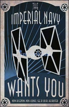 Star Wars - Recruiting Poster Theme Star Wars, Star Wars Art, Star Trek, Starwars, Film Science Fiction, Pen & Paper, Stormtrooper, Darth Vader, Cuadros Star Wars
