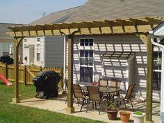 Pergola covering patio
